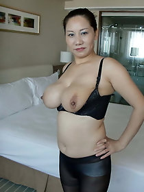 Skinny japanese moms in sexy dress