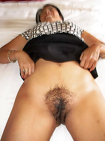 Hairy asian Andrea get her pubic hair pounded